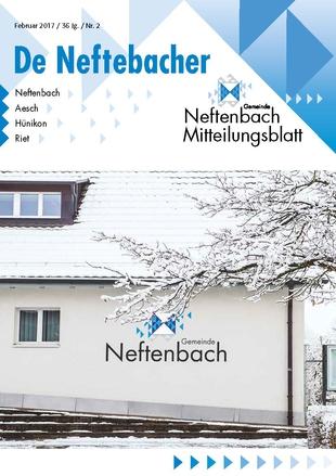 Titelbild Mitteilungsblatt De Neftebacher Februar 2017
