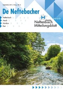 Titelblatt Mitteilungsblatt De Neftebacher September 2017 Näfbach im Sommer