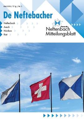 Titelseite Mitteilungsblatt Neftenbach Mai-Ausgabe 2018 Fahnen im Wind