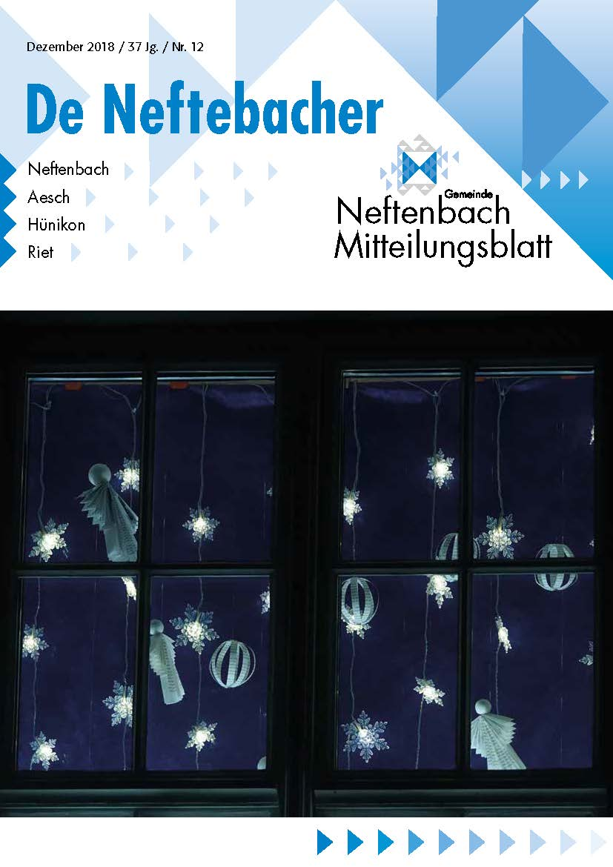 Titelblatt De Neftenbacher Dezember 2018