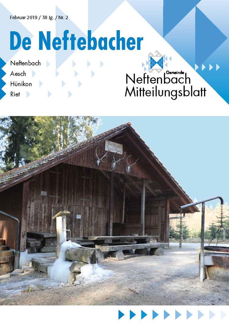 Tittelblatt Mitteilungsblatt De Neftebacher