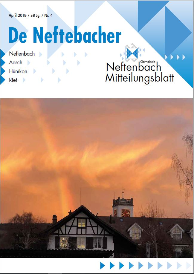 Titelblatt Neftenbacher Mitteilungsblatt
