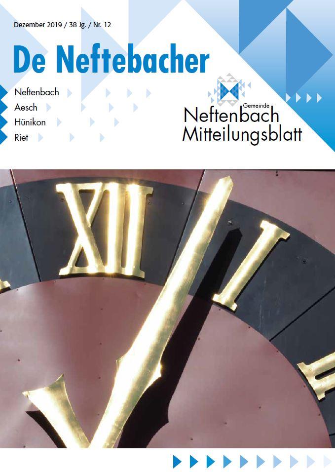 Titelbild Mitteilungsblatt Dezember 2019