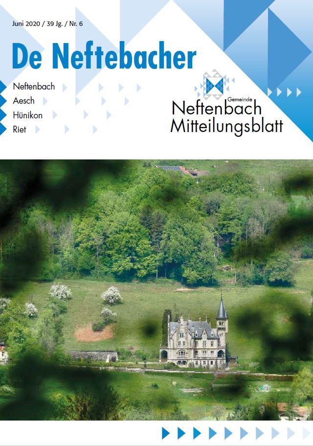 Titelblatt Mitteilungsblatt De Neftebacher Juni 2020